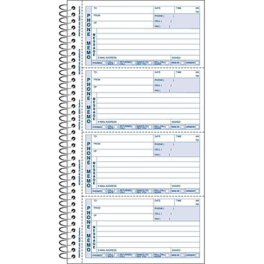 Rediform Phone Memo Message Book