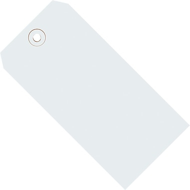 Staples White Shipping Tags, #8, 6-1/4in. x 3-1/8in.