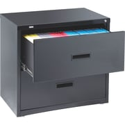 Staples HL1000 Lateral File Cabinet, 30 Wide, 2-Drawer, Black