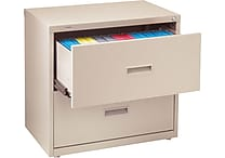 Staples HL1000 Lateral File Cabinet, 30' Wide, 2-Drawer, Putty