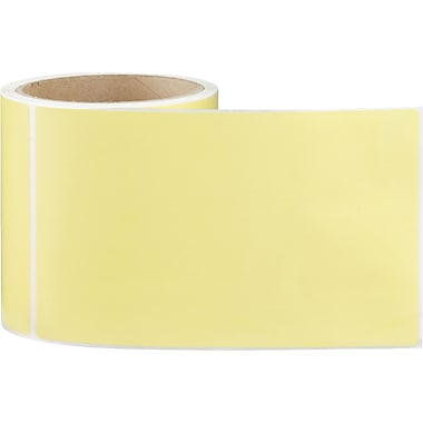 4 x 6-1/2 Perfed Yellow Permanent Adhesive Thermal Transfer Roll Intermec Compatible Label/Ribbon Ki