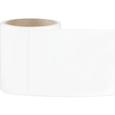 4 x 5 Perfed White Permanent Adhesive Thermal Transfer Roll Sato Compatible Label/Ribbon Kit