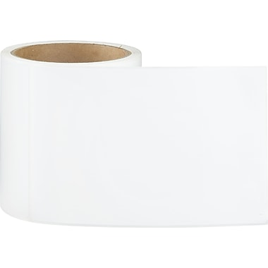 4 x 8 Perfed White Permanent Adhesive Thermal Transfer Roll Label