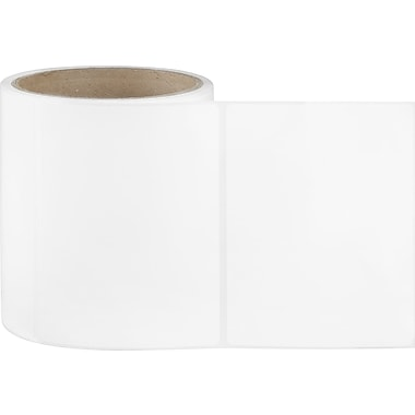 4 x 4 White Permanent Adhesive Thermal Transfer Roll Sato Compatible Label/Ribbon Kit