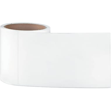 4 x 6-1/2 White Permanent Adhesive Thermal Transfer Roll Sato Compatible Label/Ribbon Kit