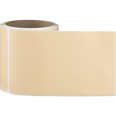 4 x 6-1/2 Perfed Orange Perm. Adhesive Thermal Transfer Roll Intermec Compatible Label/Ribbon Kit
