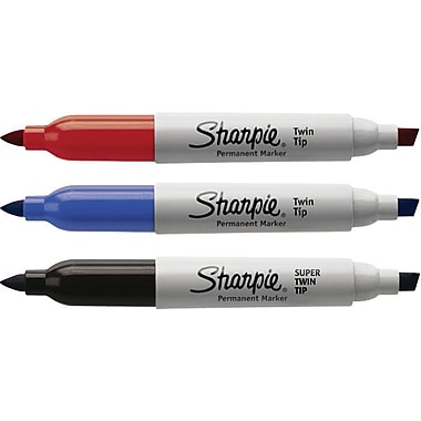 Sharpie® Super Twin Tip Fine Point and Chisel Tip Markers, Assorted, 3/Pack