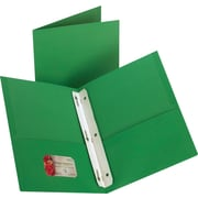 Staples® 2-Pocket Folder with Fasteners, Green