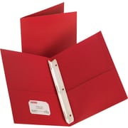 Staples® 2-Pocket Folder with Fasteners, Red