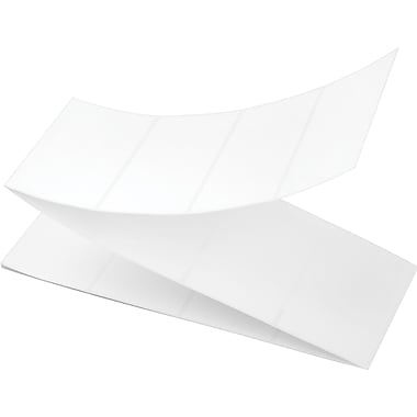 4 x 2-1/2 Perfed White Permanent Thermal Transfer Fanfold Intermec Compatible Label/Ribbon Kit