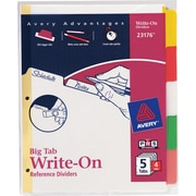 Avery® Write-On™ BIG TAB Dividers