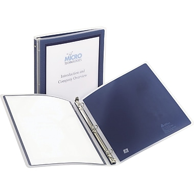 1/2in. Avery Flexi-View Presentation Binder with Round Rings, Navy Blue