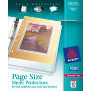 Avery® Page-Size Sheet Protectors, Nonglare