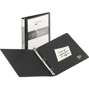 1-1/2 Avery® Economy View Binders with Round Rings, Black