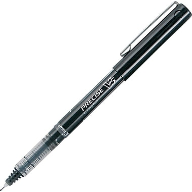 Pilot® Precise V5 Needle Rollerball Pen, Extra Fine Point, Black, Dozen