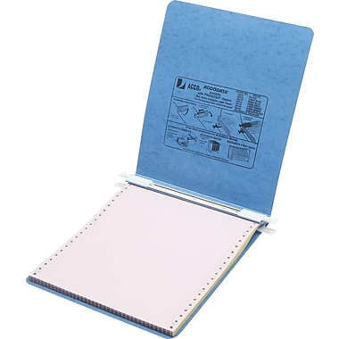 Acco® Hanging Data Binders Presstex® Cover, Light Blue, 8 1/2in. x 11in.