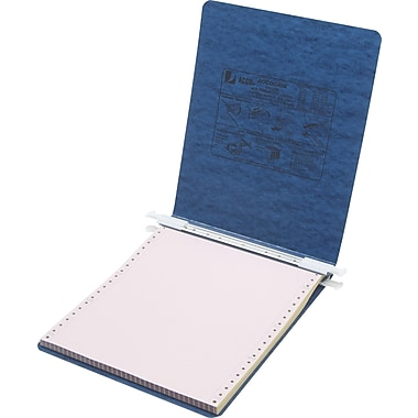 Acco® Hanging Data Binders Presstex® Cover, Dark Blue, 9 1/2in. x 11in.