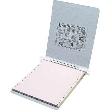 Acco® Hanging Data Binders Presstex® Cover, Light Gray, 9 1/2in. x 11in.