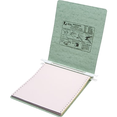 Acco® Hanging Data Binders Presstex® Cover, Light Green, 9 1/2in. x 11in.