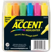 Sharpie® Accent® Tank Highlighters, Chisel Tip, Assorted Colors, 6/Pack