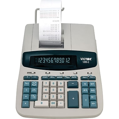 Victor® 12603 Heavy Duty Commercial Printing Calculator, 12-Digit