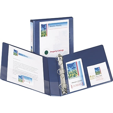 1-1/2in. Avery® Design Edge View Binders with EZ-Turn™ Rings, Metallic Blue