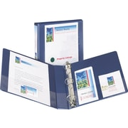 1-1/2 Avery® Design Edge View Binders with EZ-Turn™ Rings, Metallic Blue