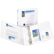 1-1/2 Avery® Design Edge View Binders with EZ-Turn™ Rings, White
