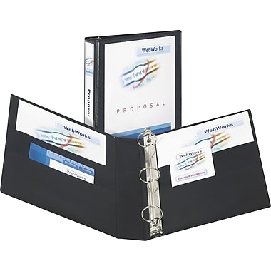 2in. Avery® Heavy-Duty View Binders with One Touch Slant-D™ Rings, Black