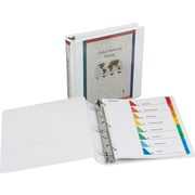 2 Samsill® DXL™ View Binder with Slant-D Rings, White