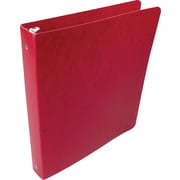 Acco Presstex 1-Inch Round 3-Ring Nonview Binder, Red (38619)