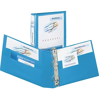 2in. Avery® Heavy-Duty View Binders with One Touch Slant-D™ Rings, Light Blue