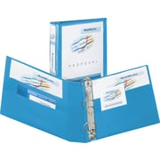 3 Avery® Heavy-Duty View Binder with One Touch Slant-D™ Rings, Light Blue
