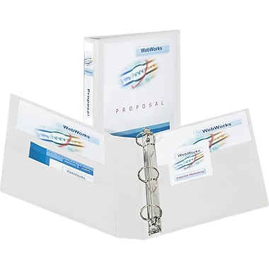 3in. Avery® Heavy-Duty View Binder with One Touch Slant-D™ Rings, White