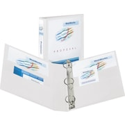 3 Avery® Heavy-Duty View Binder with One Touch Slant-D™ Rings, White
