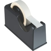 "OIC Heavy-Duty Tape Dispenser, 1"" and 3"" Core, Black, 4 1/4""H x 3 1/4""W x 8 1/4""D"