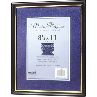 Nu-Dell EZ-Mount Plastic Wall Frames,  8 1/2in. x 11in.
