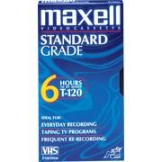 Maxell T120 Standard Grade VHS Cassette