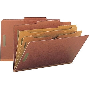 Smead® Colored Pocket-Style Classification Folders