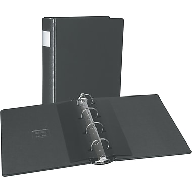 Wilson Jones Casebound 2-Inch Round 4-Ring Binder, Black (34448L)