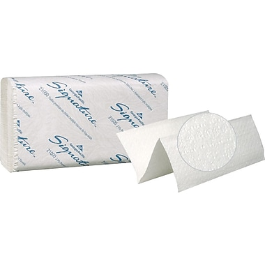 Signature Premium Multifold Paper Towels, White, 2-Ply, 2,000/Case