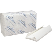 Signature® Premium C-Fold Paper Towels, White, 2-Ply, 1,440/Case
