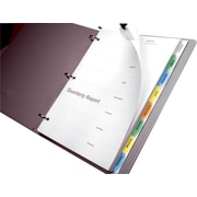 Wilson Jones Multicolor View-Tab Paper Dividers,8-tab