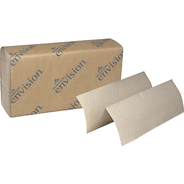 Envision® Recycled Multifold Paper Towels, Natural, 1-Ply, 4,000/Case