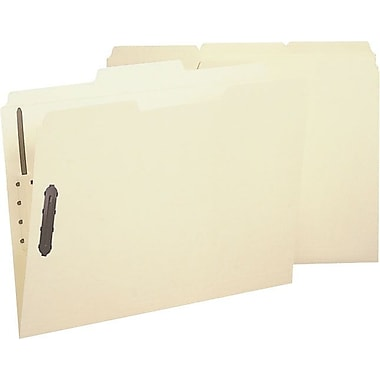 Smead Reinforced Manila Fastener Folders, Letter, 3 Tab, Positions 1 & 3, 50/Box