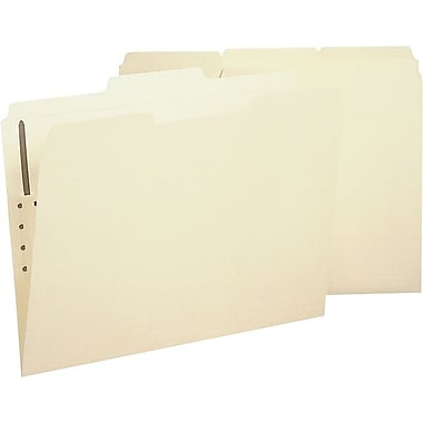 Staples Reinforced Fastener Folder, Letter, Manila, 50/Box
