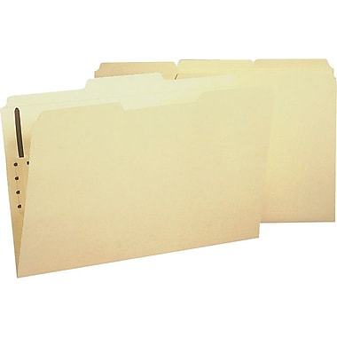 Staples® Reinforced Fastener Folders, Legal, Manila, 50/Box