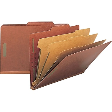 Staples® Top Tab Pressboard Classification Folders