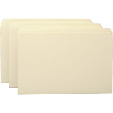 Smead® Single-Ply Tab File Folders, Legal, Single Tab, 100/Box