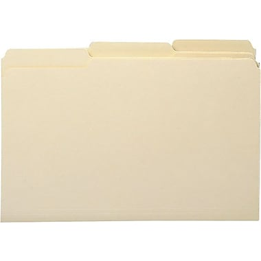 Smead® Manila File Folders, 3 Tab, Legal, 100/Box